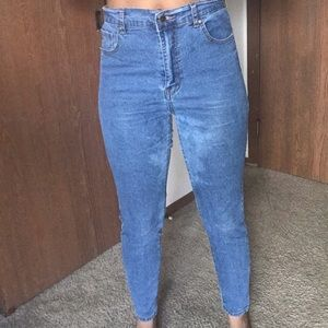 Mom jeans! Stretchy. Comfortable. Ripped under thi